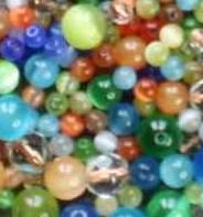 Perles oeil de chat 8 mm
