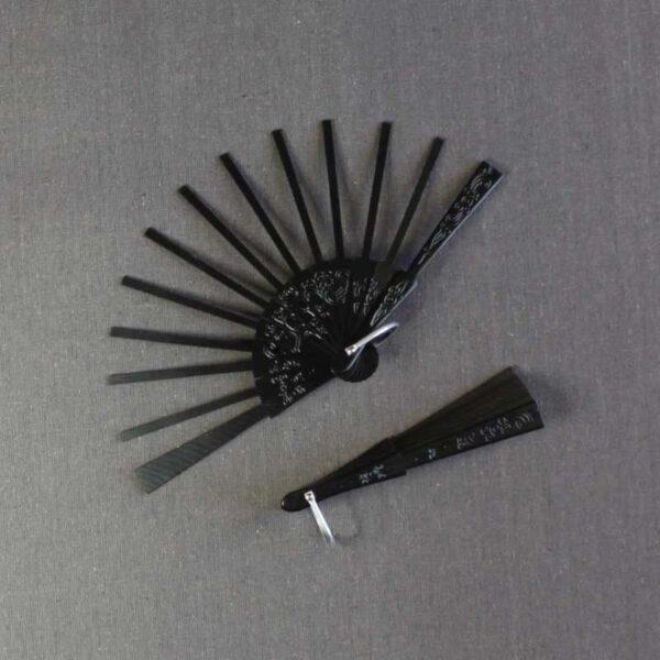 Monture d'éventail ajourée poirier petit modèle 5.3 x 13