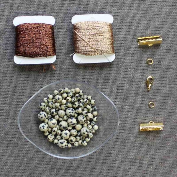 """Kit collier """"Cascade"""" pierre naturelle """"semi-precieuse"""""""