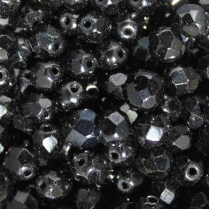 Perles en verre de Bohême de 4mm
