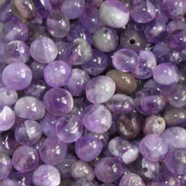 Perle naturelle ovale semi-précieuse 4-6mm