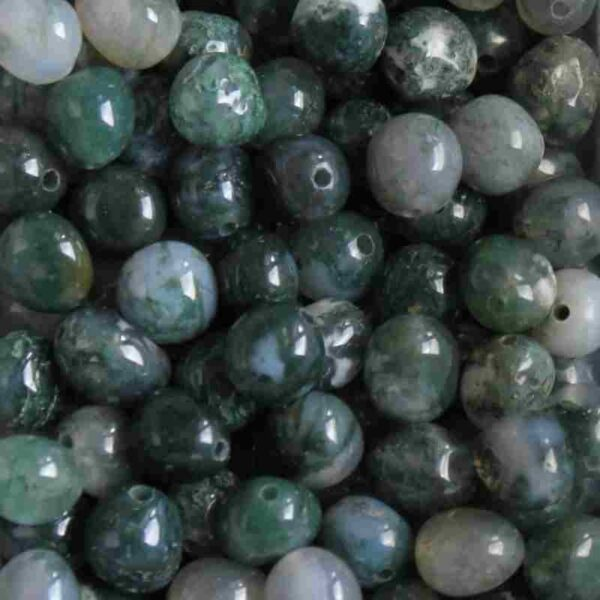 Perle naturelle ovale semi-précieuse 6-8 mm