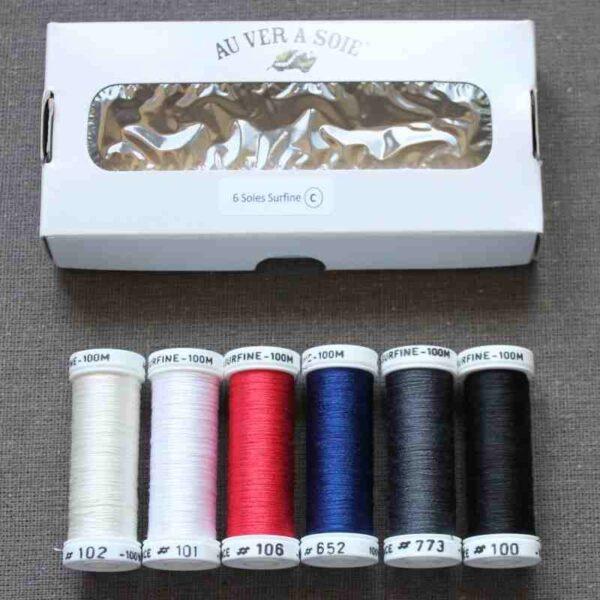 Packs 6 nuances de soie surfine