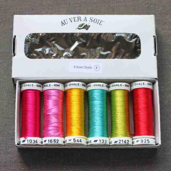 Pack 6 nuances de soie Ovale