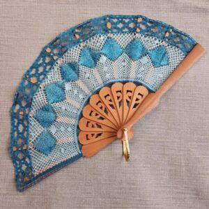 Modèle, carton, éventail Papillon. 5.5 x 14