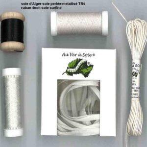 pack decouverte ruban/fil de soie