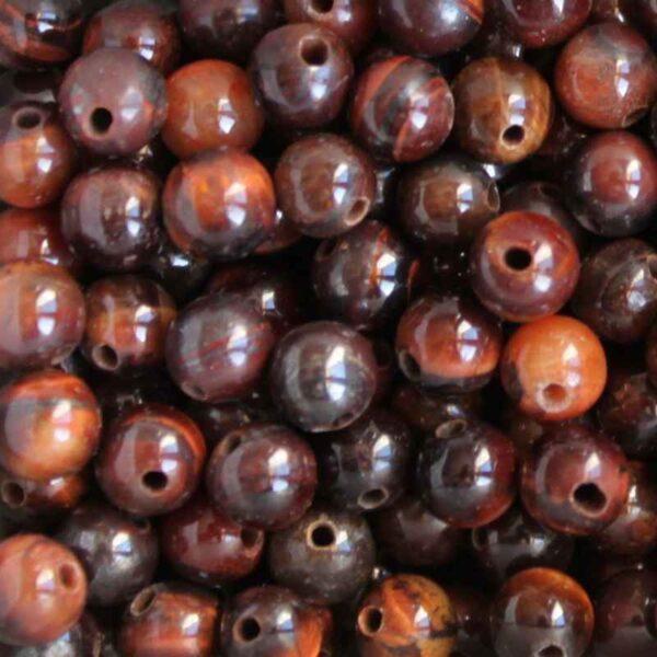 Perles gemmes rondes 6 mm