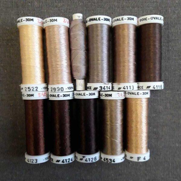 Soie ovale en 30m coloris marron