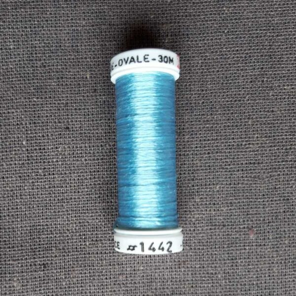 "Soie ovale ""bleu"""