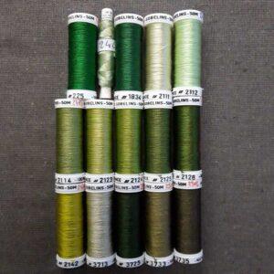 nuancier soie Gobelins gamme vert
