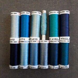 nuancier soie Gobelins bleu
