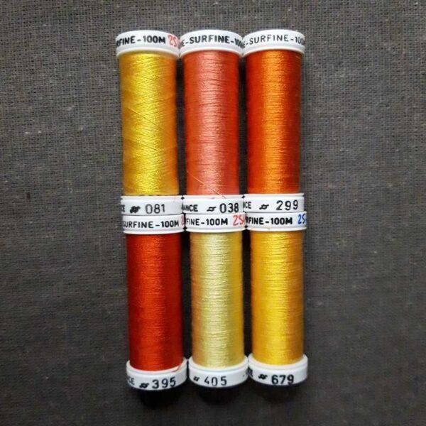 nuancier soie surfine jaune orange