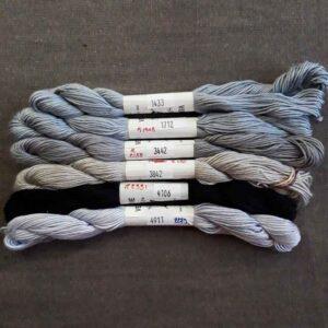 nuancier de soie d'Alger gris-noir