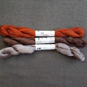 soie Alger coloris marron