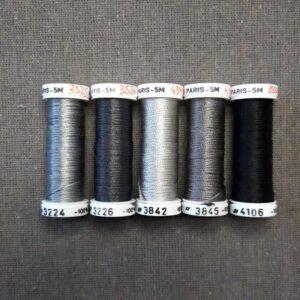 Soie de Paris gamme de gris à noir