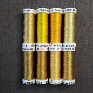 soie de Paris, gamme de couleur jaune -or