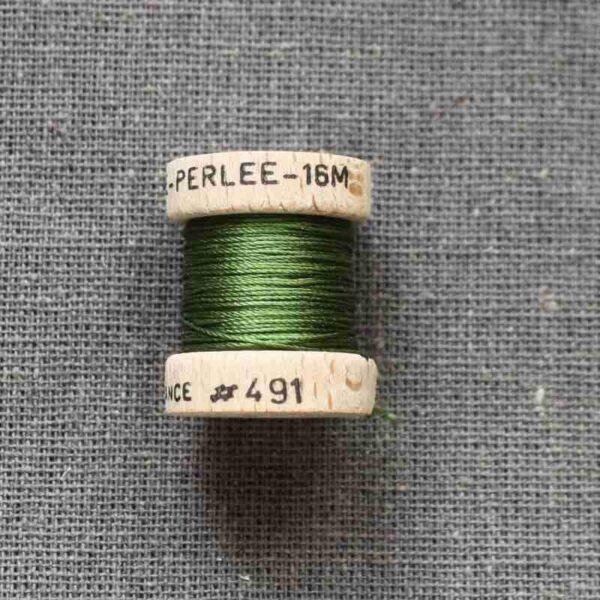 """Cordonet Soie perlée """"vert"""""""
