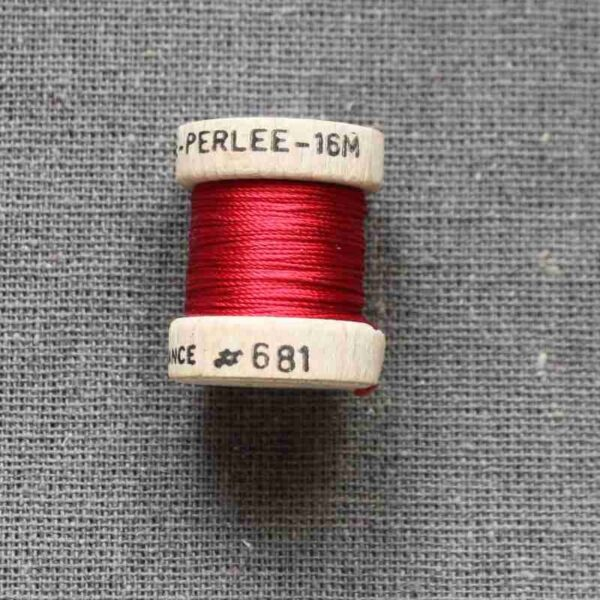 """Cordonnet Soie perlée """"rouge"""""""