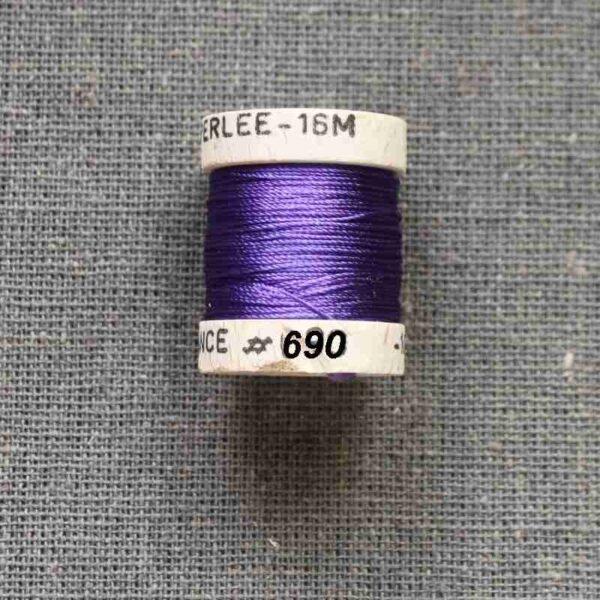 """Cordonnet Soie perlée """"violet"""""""
