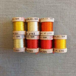 cordonnet de soie perlée jaune