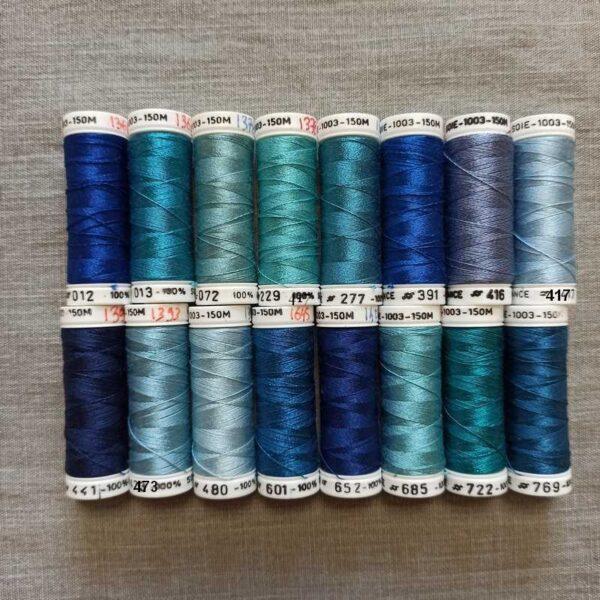 soie fine 1003 nuancier bleu