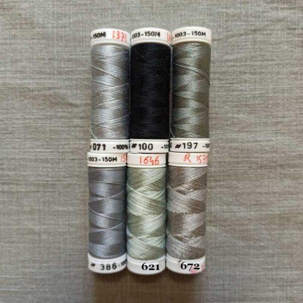 """Soie fine 1003™ nuance """"gris-noir"""""""