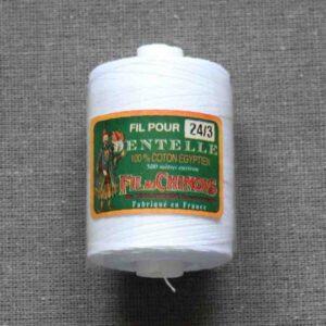 """Coton d'Égypte blanc """"24/3 au 170/2"""""""