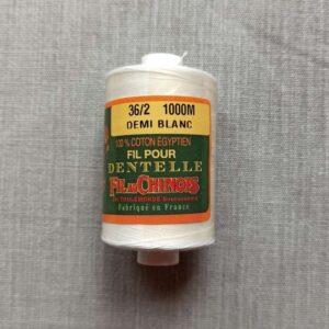 Coton d'Égypte demi-blanc 24/3 au 170/2