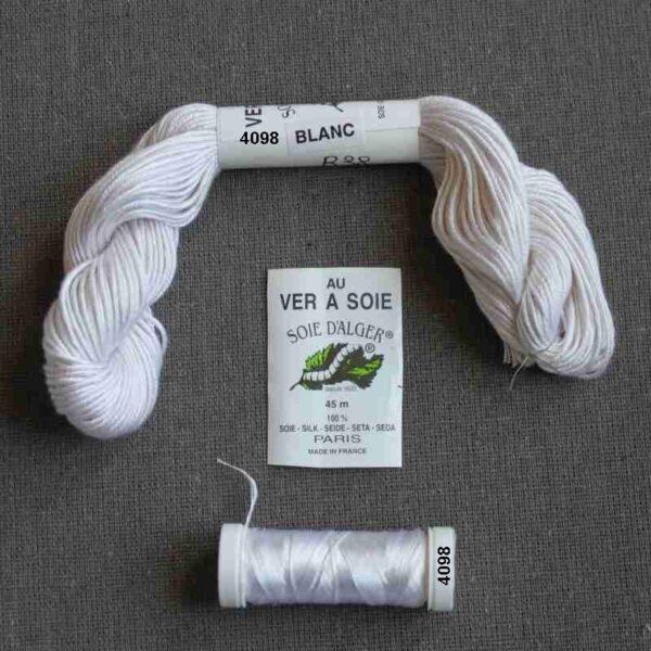 Kit de soie Blanc-crème pour éventail