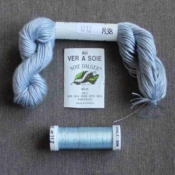 Kit de soie Bleu pour éventail