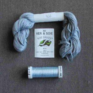 Kit de soie Noir-gris pour éventail