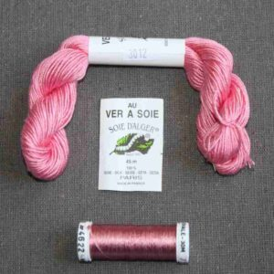 Kit de soie rose pour éventail