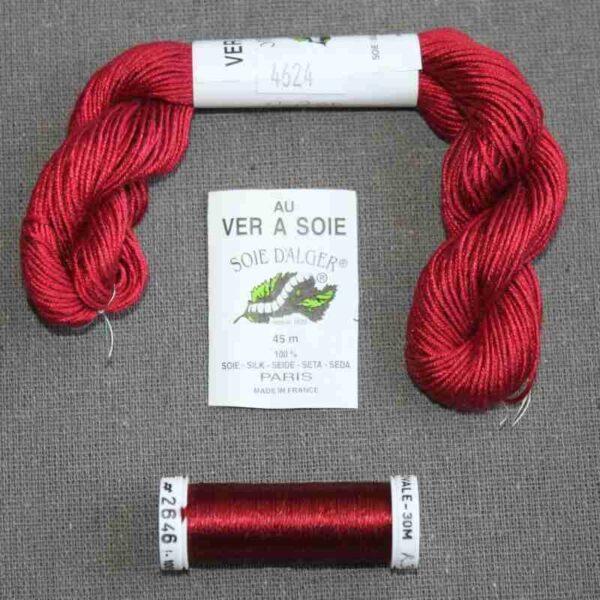Kit de soie rouge pour éventail